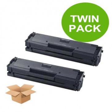 2 Multipack Samsung MLT-D111S High Quality  Laser Toners. Includes 2 Black