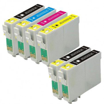 6 Multipack Epson 18XL (T1816) High Yield Remanufactured Ink Cartridges. Includes 3 Black, 1 Cyan, 1 Magenta, 1 Yellow
