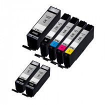 7 Multipack Canon PGI-570XL & CLI-571 High Yield Compatible Ink Cartridges. Includes 3 Pigment Black, 1 Black, 1 Cyan, 1 Magenta, 1 Yellow