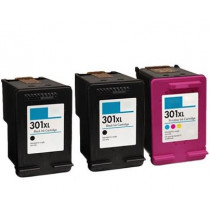 3 Multipack HP 301XL BK/CL High Yield Remanufactured Ink Cartridges