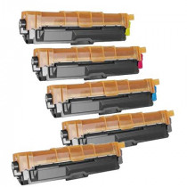 5 Multipack Brother other TN241 BK/C/M/Y High Quality Remanufactured Laser Toners. Includes 2 Black, 1 Cyan, 1 Magenta, 1 Yellow