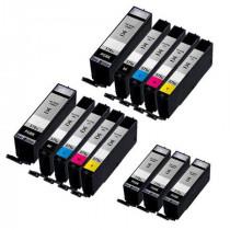 13 Multipack Canon PGI-570XLPGBK & CLI-571 BK/C/M/Y High Yield Compatible Ink Cartridges. Includes 5 Extra Black, 2 Black, 2 Cyan, 2 Magenta, 2 Yellow