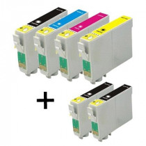 6 Multipack Epson T0895 BK/C/M/Y High Quality Remanufactured Ink Cartridges. Includes 3 Black, 1 Cyan, 1 Magenta, 1 Yellow