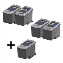 5 Multipack Canon PG-40 Black & CL-41 Colour High Quality Remanufactured Ink Cartridges. Includes 3 Black, 2 Colour