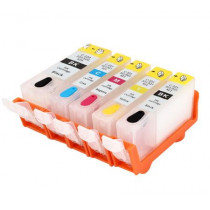 5 Multipack Canon PGI-520 BK & CLI-521 BK/C/M/Y High Quality Compatible Ink Cartridges. Includes 2 Black, 1 Cyan, 1 Magenta, 1 Yellow