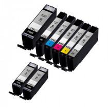 8 Multipack Canon PGI-570XLPGBK & CLI-571XL BK/C/M/Y High Yield Compatible Ink Cartridges. Includes 3 Extra Black, 1 Black, 1 Cyan, 1 Magenta, 1 Yellow, 1 Grey