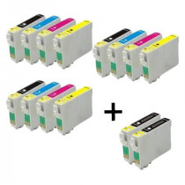 14 Multipack Epson T1001-4 BK/C/M/Y High Quality Remanufactured Ink Cartridges. Includes 5 Black, 3 Cyan, 3 Magenta, 3 Yellow