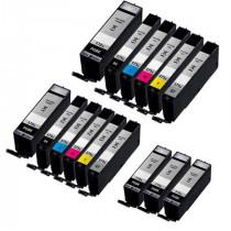15 Multipack Canon PGI-570XLPGBK & CLI-571XL BK/C/M/Y High Yield Compatible Ink Cartridges. Includes 5 Extra Black, 2 Black, 2 Cyan, 2 Magenta, 2 Yellow, 2 Grey