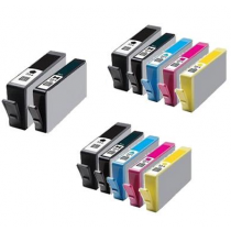 12 Multipack HP 364XL High Yield MultiMultipack Cartridges. Included 3 Black, 3 Photo Black, 2 Cyan, 2 Yellow 2 Magenta Re-manufactured Ink Cartridges.