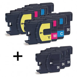 11 Multipack Brother other LC980 BK/C/M/Y High Quality Compatible Ink Cartridges. Includes 5 Black, 2 Cyan, 2 Magenta, 2 Yellow