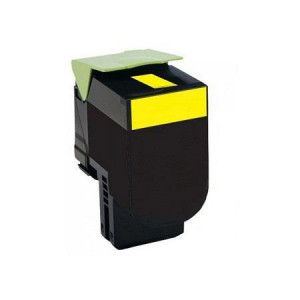 Lexmark 80C2SY0 Yellow, High Quality Remanufactured Laser Toner