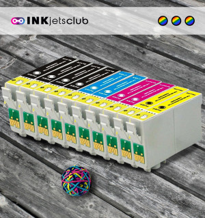 10 Multipack Epson 18 XL (T1816) High Yield Remanufactured Ink Cartridges. Includes 4 Black, 2 Cyan, 2 Magenta, 2 Yellow