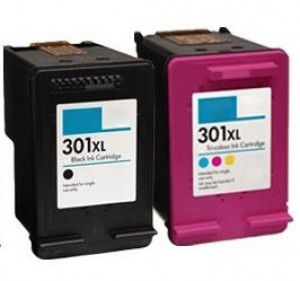 2 Multipack HP 301XL Black & Colour High Yield Remanufactured Ink Cartridges. Includes 1 Black, 1 Colour