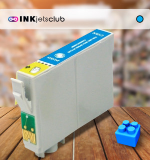 Epson 18 XL (C13T18124010) Cyan, High Yield Remanufactured Ink Cartridge