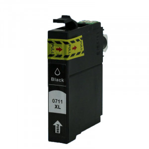 Epson T0711 (C13T07114011) Black, High Quality Remanufactured Ink Cartridge