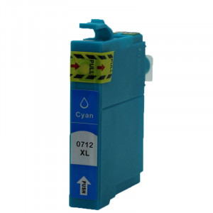 Epson T0712 (C13T07124011) Cyan, High Quality Remanufactured Ink Cartridge